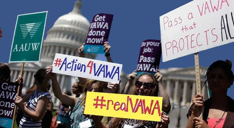 VAWA protesters